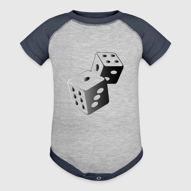 Two Dice At The Casino - Baby Contrast One Piece