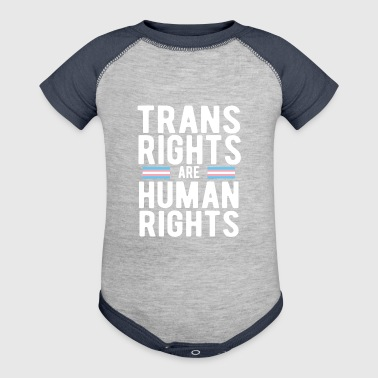 Trans Rights are Human Rights - Baby Contrast One Piece