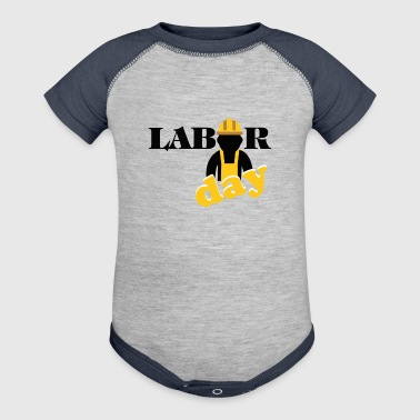labor day shirt, Happy labor day shirt - Baby Contrast One Piece