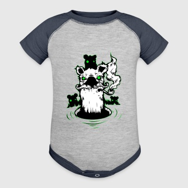 Abstract smoker - Baby Contrast One Piece