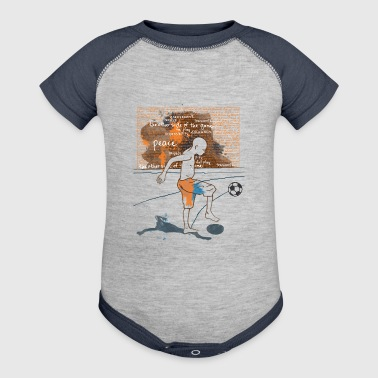 I love Football - Baby Contrast One Piece
