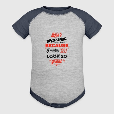 60th birthday designs - Baby Contrast One Piece