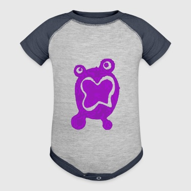Purple Blob - Baby Contrast One Piece
