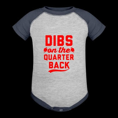 dibs on the quarterback - Baby Contrast One Piece