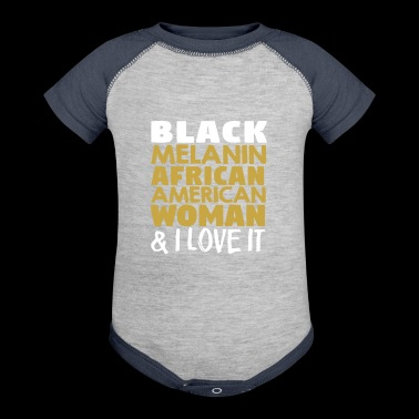 Melanin African American Woman - Baby Contrast One Piece