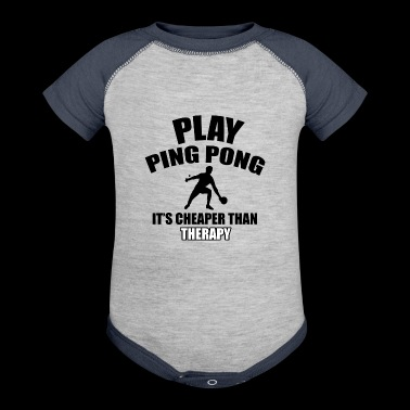 ping pong design - Baby Contrast One Piece