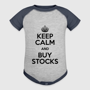 KEEP CALM AND BUY STOCKS - Baby Contrast One Piece