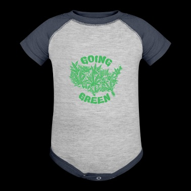 Ganja Green Cyber System - Baby Contrast One Piece