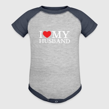 I Love My Husband - Baby Contrast One Piece