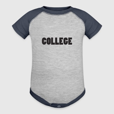 college - Baby Contrast One Piece