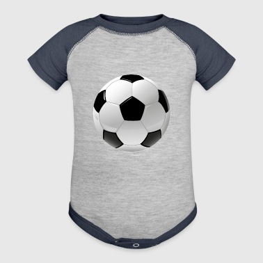 football realistic ball sport - Baby Contrast One Piece