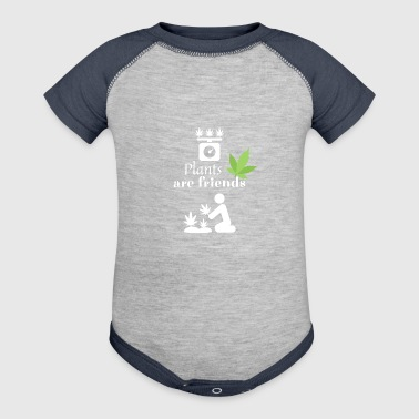 Plants are friends - Smoke Weed - Baby Contrast One Piece