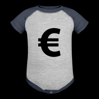 Euro Sign - Baby Contrast One Piece
