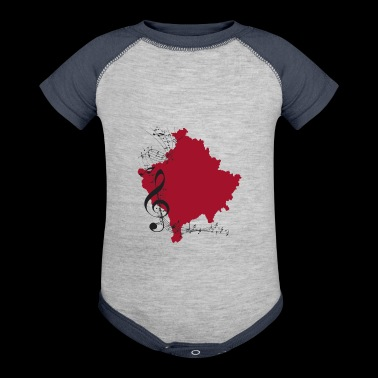 kosovo musik albanian shirt - Baby Contrast One Piece