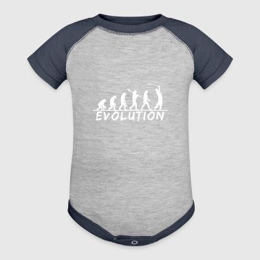 Evolution Golf, golfing, putter, funny, golf club - Baby Contrast One Piece