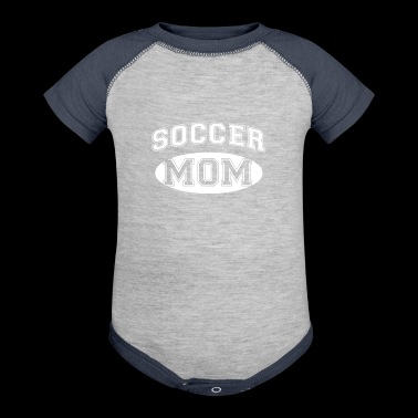 Cool Soccer Fan Mom - Baby Contrast One Piece