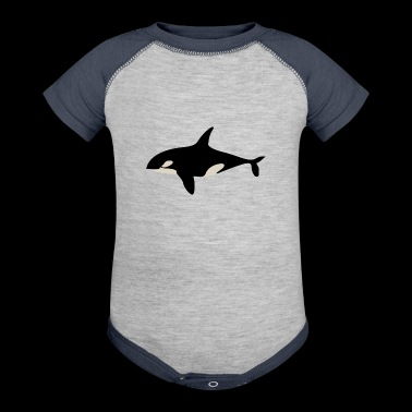 killer whale - Baby Contrast One Piece
