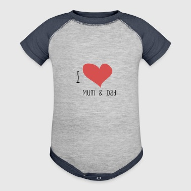 I Love Mum & Dad - Baby Contrast One Piece