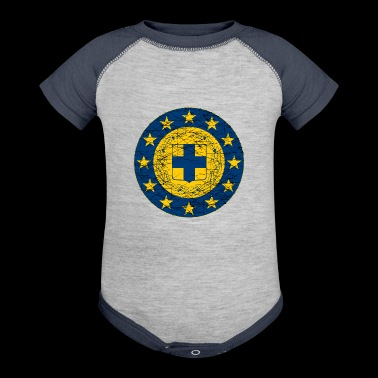 EU and Greece flags - Baby Contrast One Piece