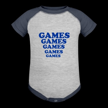 GAMES GAMES GAMES GAMES - Baby Contrast One Piece