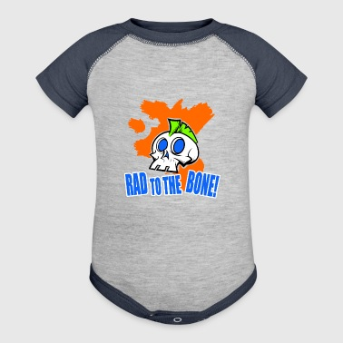 Rad To The Bone Mohawk Skull Shirt - Baby Contrast One Piece