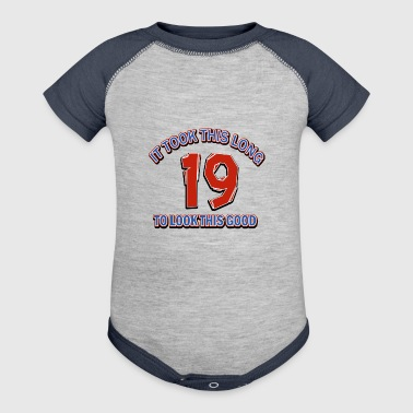 19th birthday designs - Baby Contrast One Piece