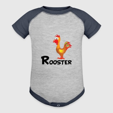 Cartoon Rooster - Baby Contrast One Piece