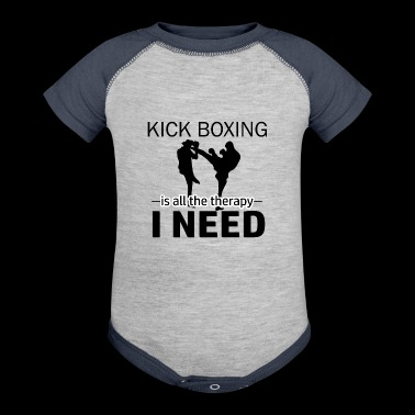 Kick Boxing is my therapy - Baby Contrast One Piece