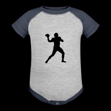Football Quarterback Silhouette - Baby Contrast One Piece