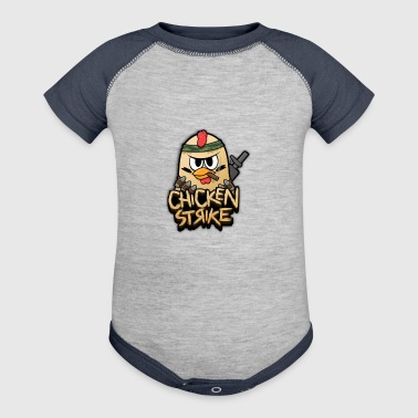 Chicken Strike - Baby Contrast One Piece