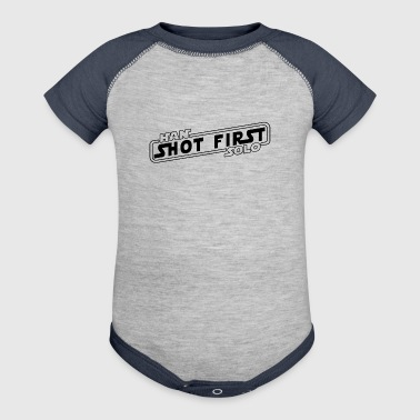 Han Solo Shot First - Baby Contrast One Piece