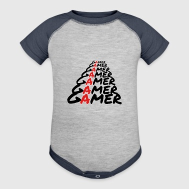 Gamer Gamer Gamer [White] - Baby Contrast One Piece