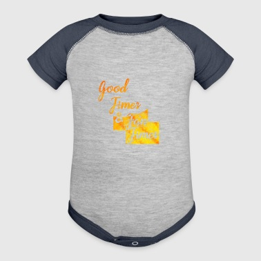 Good Times Tan Summer sunlight sunrise holidays - Baby Contrast One Piece