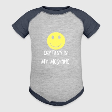 Ecstasy is my Medicine Smile Pill Party Gifts - Baby Contrast One Piece