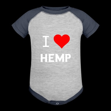 I Love Hemp Heart Gifts - Baby Contrast One Piece