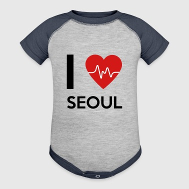 I Love Seoul - Baby Contrast One Piece