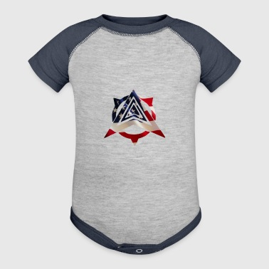 United States Flag - Baby Contrast One Piece