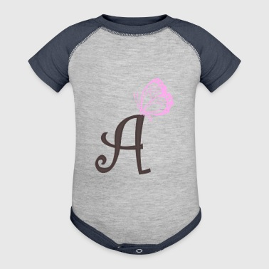 initial A - Baby Contrast One Piece