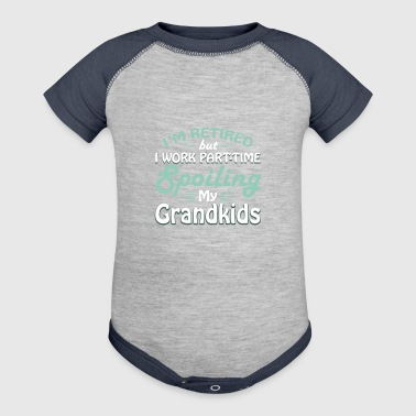 Retirement Grandparents Spoiling Grandkids - Baby Contrast One Piece
