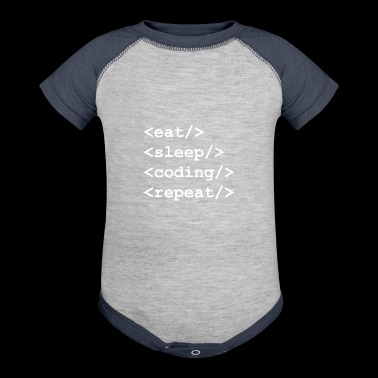 Code Repeat gift for Programmer - Baby Contrast One Piece