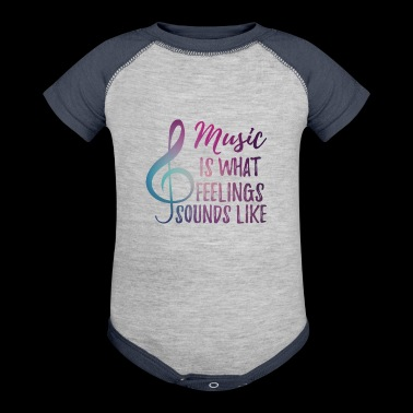 Music - Sensitive - Feelings - Notekey - Gift - Baby Contrast One Piece