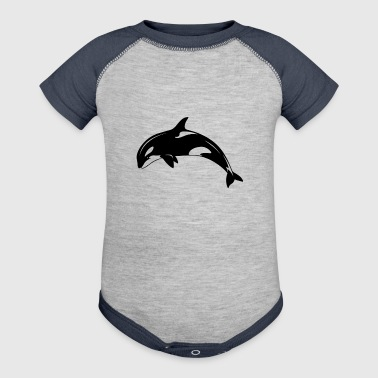 Killer Whale Orca TShirt - Baby Contrast One Piece