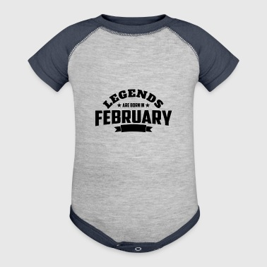 Legends Are Born in February | February Birthday - Baby Contrast One Piece