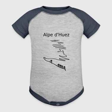 Alpe d Huez black for cyclist - Baby Contrast One Piece