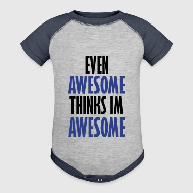 even awesome - Baby Contrast One Piece