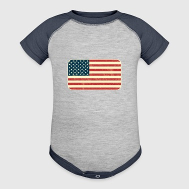 Grungy USA Flag - Baby Contrast One Piece