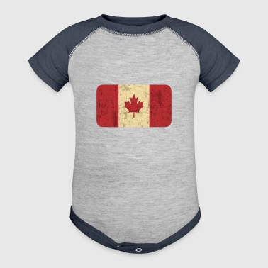 Grungy Flag of Canada - Baby Contrast One Piece