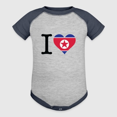I Love North Korea - Baby Contrast One Piece