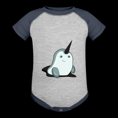 Narwhal - Baby Contrast One Piece