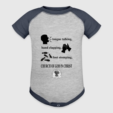 talking clapping stomping Church of God in Christ - Baby Contrast One Piece